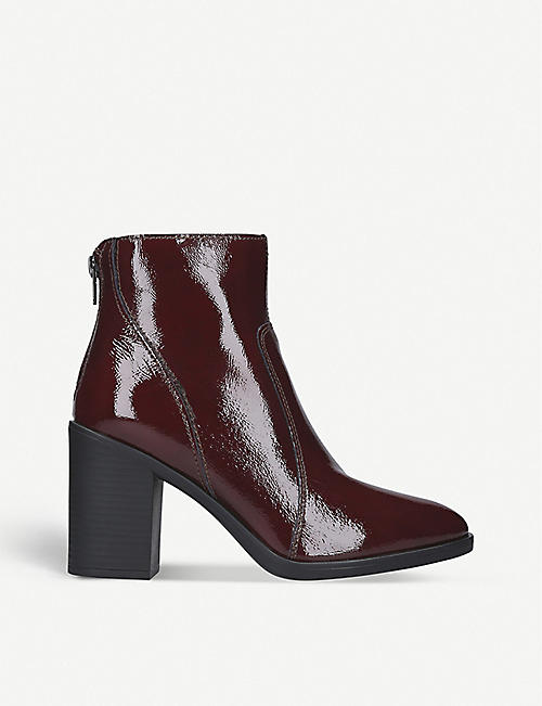 KG BY KURT GEIGER Sly patent leather ankle boot