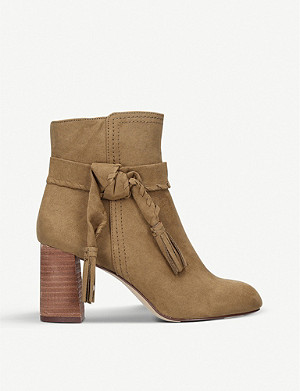 NINE WEST Kalnera suede heeled boots