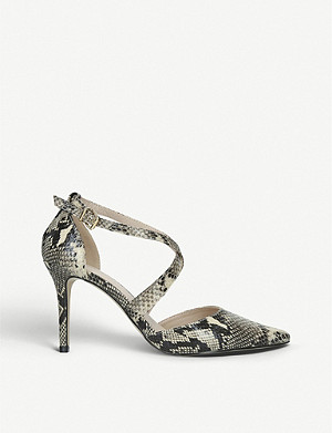 CARVELA Kross 3 snakeskin-print faux-suede courts