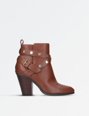 NINE WEST Harlyn strap-detail leather boots