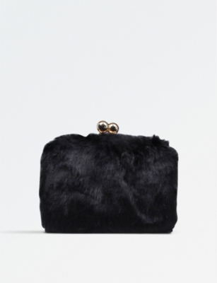 MISS KG Henri faux-fur clutch