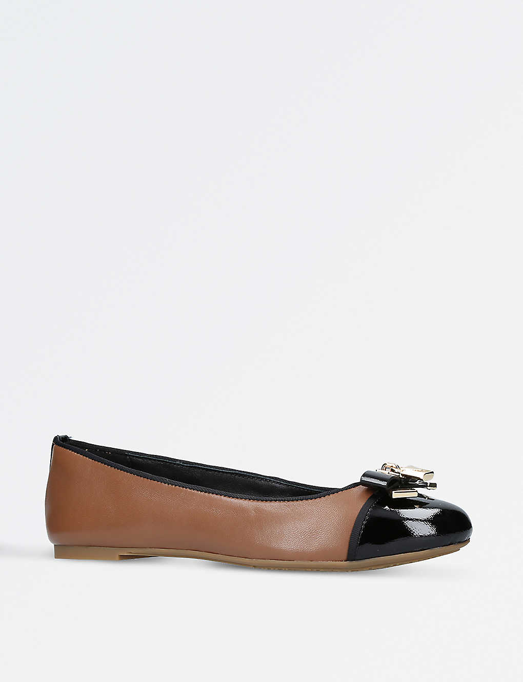 7418ee45798 MICHAEL MICHAEL KORS - Alice two-tone leather ballet shoes ...