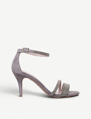 CARVELA Genesis beaded-trim suede sandals