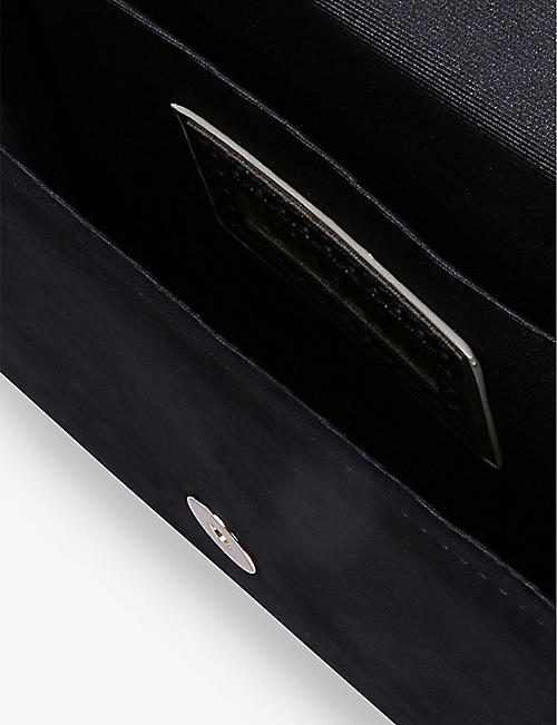 MISS KG Honor suedette clutch bag