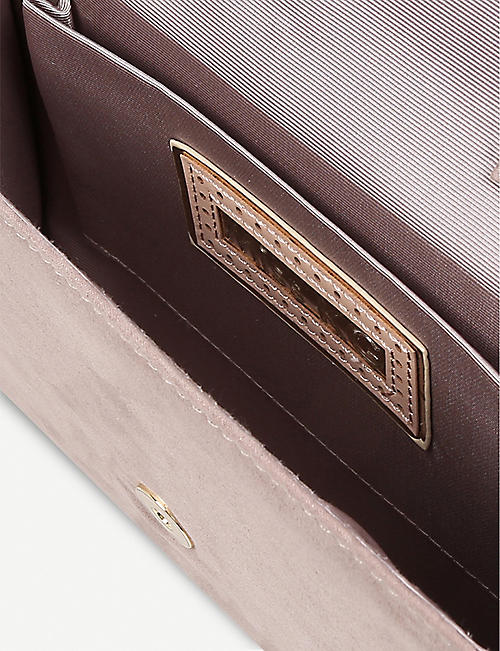 MISS KG Honor ring-detail clutch