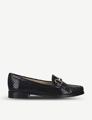 CARVELA COMFORT Click snake-embossed leather loafers