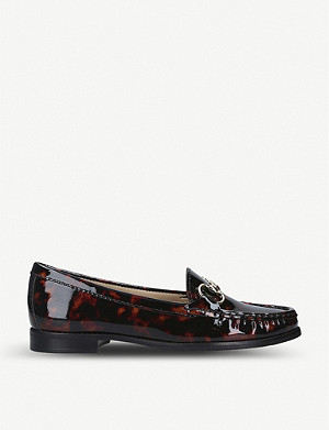CARVELA COMFORT Click tortoiseshell-print patent-leather loafers