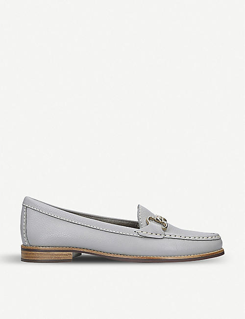 CARVELA COMFORT: Click grained-leather loafers