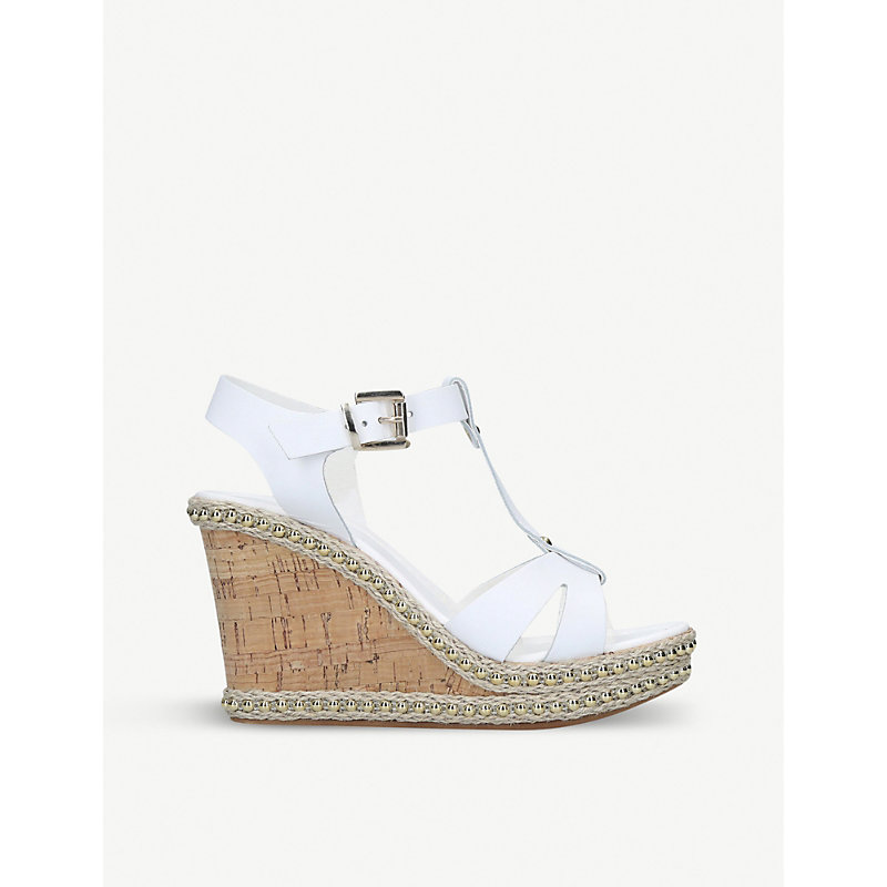 CARVELA | Karoline Leather Wedge Sandals | Goxip