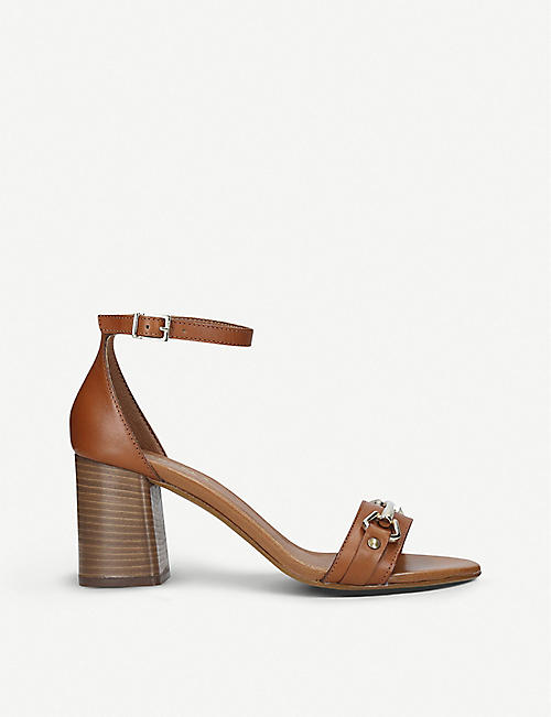 883cfbbd1ac CARVELA Kast leather stacked heel sandals