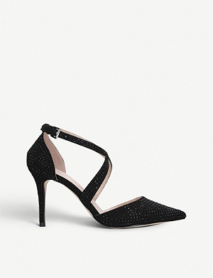 CARVELA Kross Jewel embellished faux-suede courts