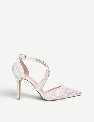 CARVELA: Kross gemstone-embellished suedette sandals