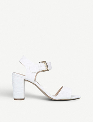CARVELA Sadie lizard-embossed heeled sandals
