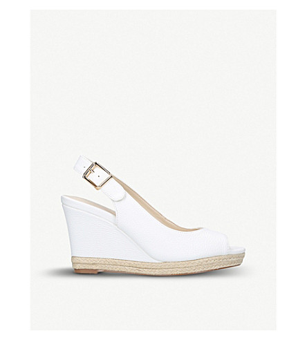 1131c41cf984 NINE WEST Dionne wedge sandals (White