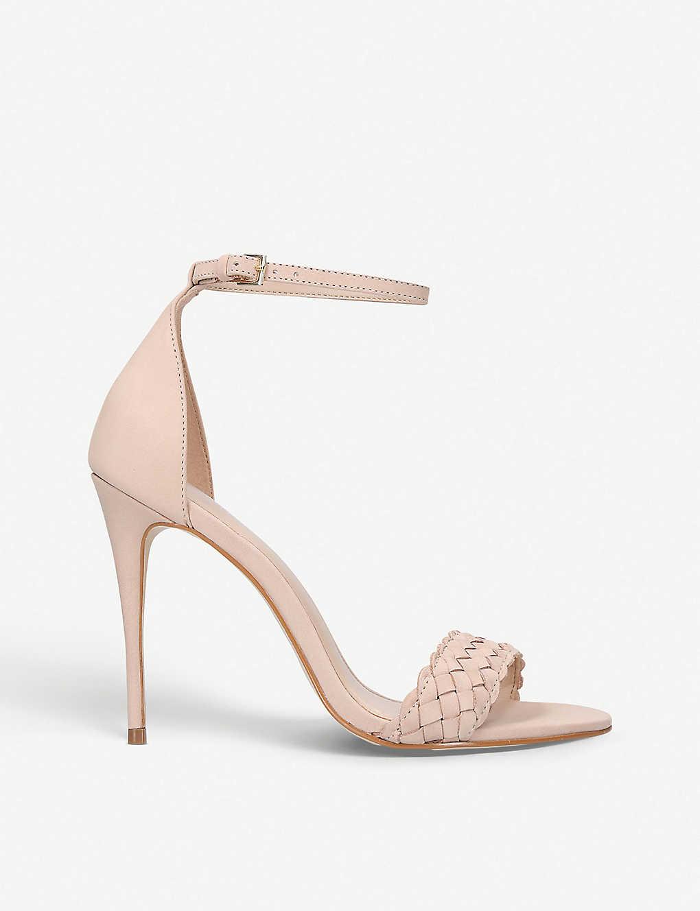 231c376a68 CARVELA - Glimpse braided leather heeled sandals | Selfridges.com