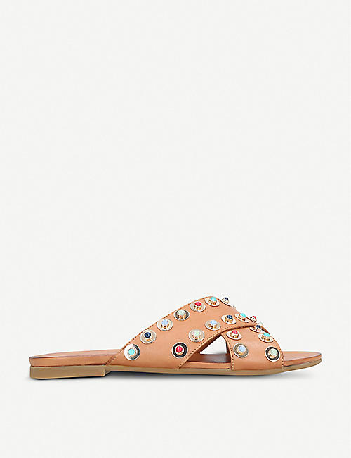 CARVELA: Koncern studded leather sliders