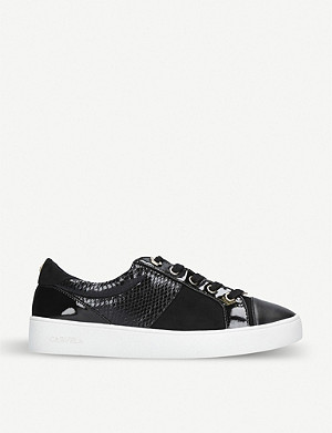 CARVELA Jagger crocodile-embossed trainers