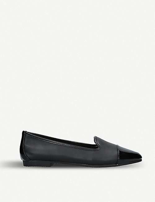 CARVELA Mercy patent toe leather flats