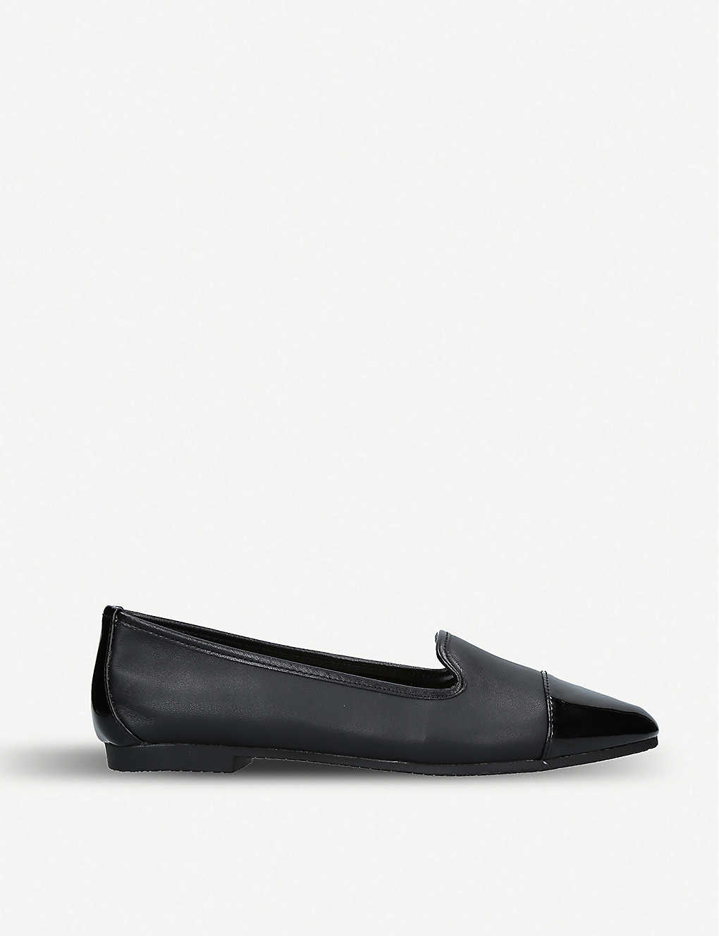 CARVELA: Mercy patent toe leather flats