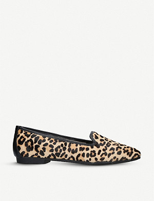 CARVELA Mercy leopard-print pony loafers