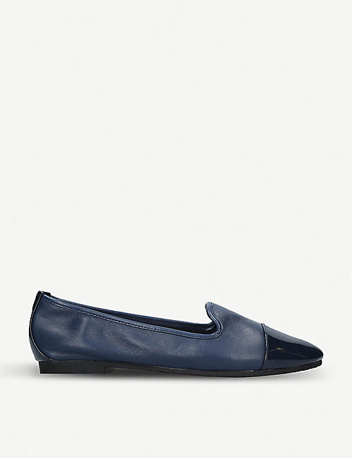 CARVELA: Mercy patent-detail leather loafers