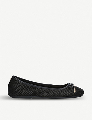 CARVELA Magic reptile-embossed leather ballet flats