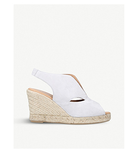 f0e9a3988251 CARVELA COMFORT Sara suede espadrille wedge sandals (Grey