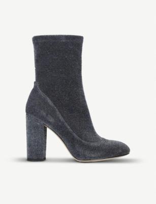 46e35cc4b8c3 SAM EDELMAN - Calexa glitter-mesh ankle boots