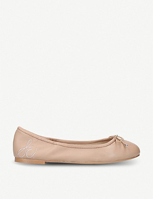 SAM EDELMAN Felicia bow-detail leather ballet flats