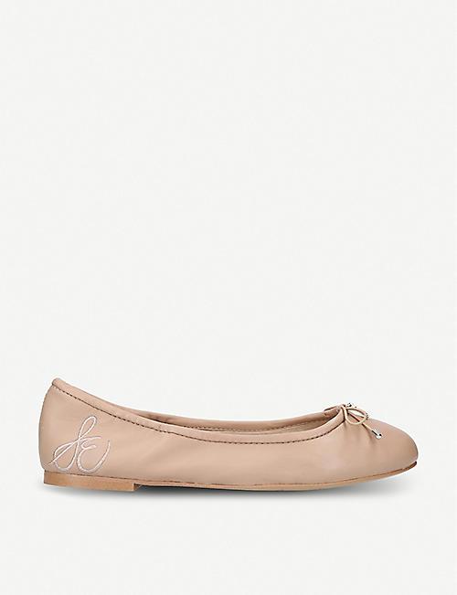 16b0b4f060b8 SAM EDELMAN Felicia bow-detail leather ballet flats