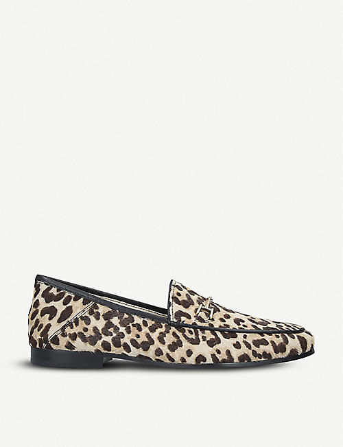 802a1178b49f SAM EDELMAN Loraine leopard-print ponyhair loafers