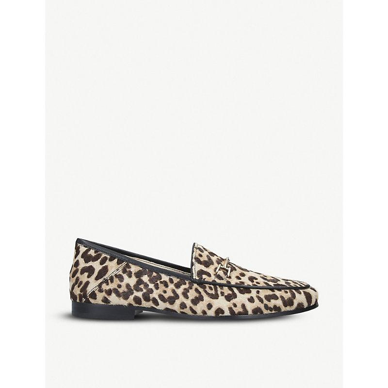 SAM EDELMAN   Loraine Leopard-Print Ponyhair Loafers   Goxip