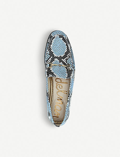 085a7e247f5 SAM EDELMAN Loraine snakeskin-effect leather loafers