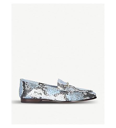 c78aa4fef06 SAM EDELMAN - Loraine snakeskin-effect leather loafers