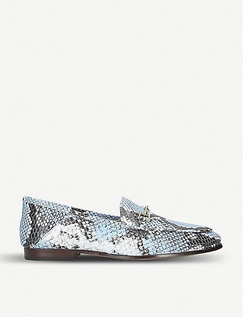 6df0af77f SAM EDELMAN Loraine snakeskin-effect leather loafers