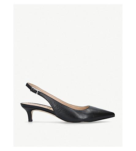 51ac6ba522d SAM EDELMAN Ludlow satin slingback kitten heels (Black