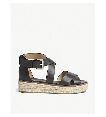 d5e219c98336 MICHAEL MICHAEL KORS Darby strappy leather sandals (Black