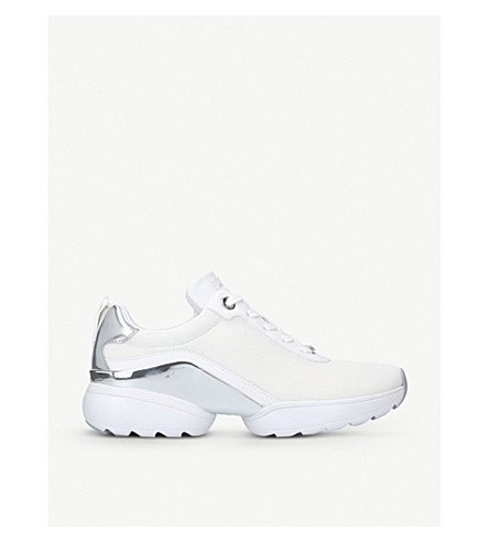 8577500e3d3 MICHAEL MICHAEL KORS Jada low-top leather and mesh trainers (White