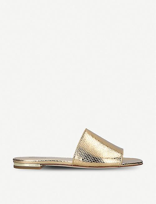 0da4f0f92fbf MICHAEL MICHAEL KORS - Shelly open-toe leather sandals
