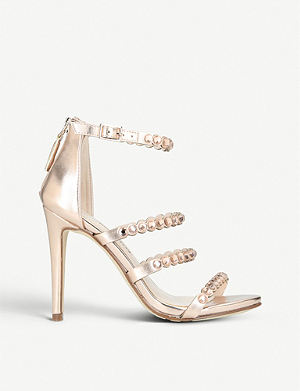 fab0c3d5c15 NINE WEST Vandison diamante-embellished metallic sandals