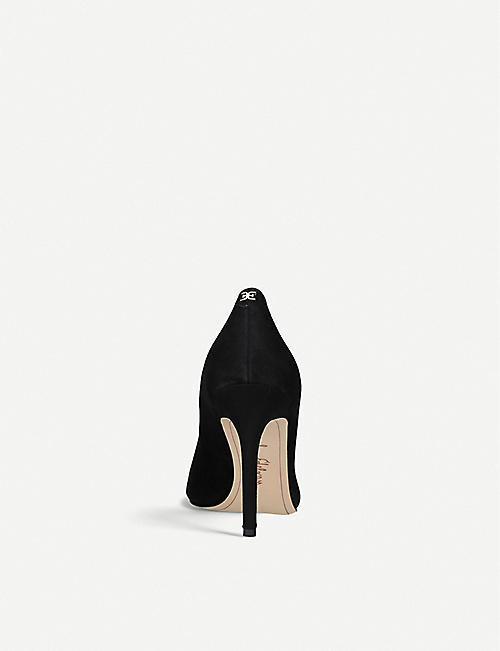 SAM EDELMAN Hazel suede court shoes