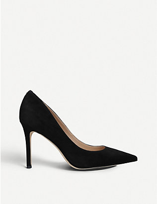 SAM EDELMAN: Hazel suede court shoes