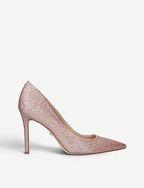 383abcf30 SAM EDELMAN Hazel 90 glittered leather courts