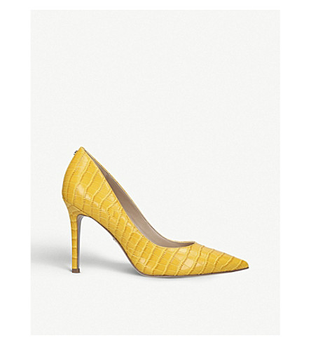 Sam Edelman Shoes HAZEL CROC-EMBOSSED LEATHER COURTS