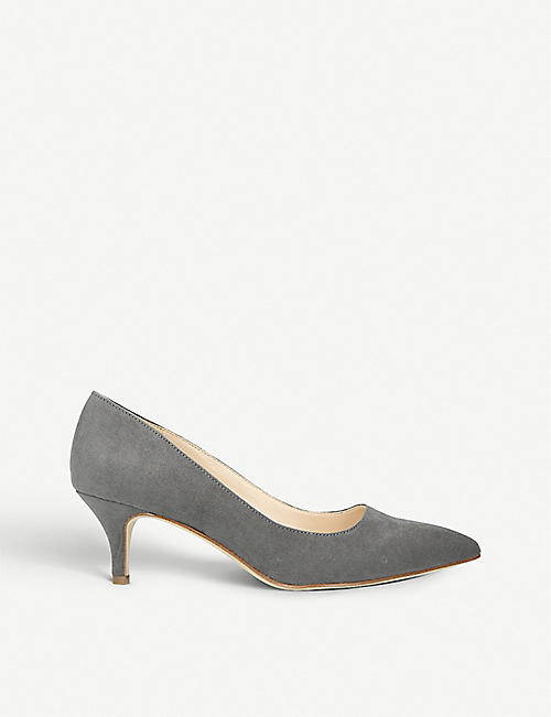 NINE WEST: Flagship 55 faux-suede court shoes