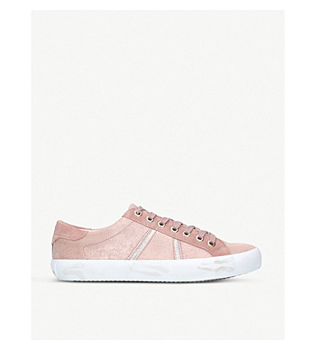 f7d3b3e3a9ca04 ... SAM EDELMAN Baylee low-top suede trainers (Pink+comb. PreviousNext