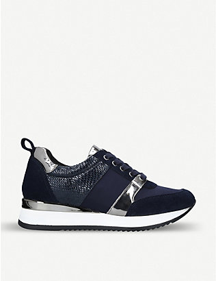 CARVELA: Justified panelled faux-leather trainers