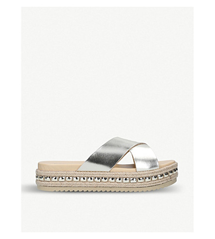 cb3e86b168c1 CARVELA - Kupkake metallic leather flatform sliders