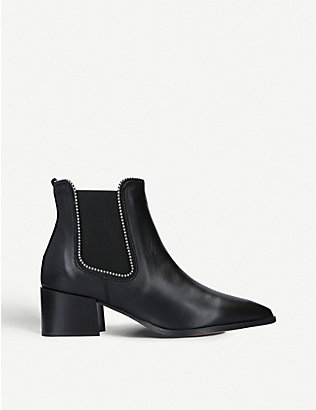 CARVELA: Spire studded leather chelsea boots