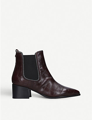 CARVELA: Spire leather studded Chelsea boots